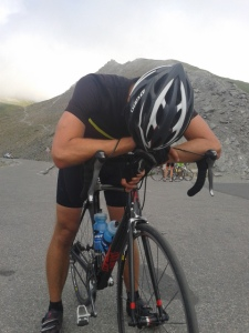 Exhaustion atop the Col Agnel